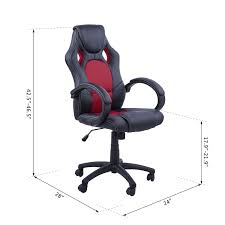 desk swivel chair. HOMCOM Racecar Styled Office Chair High Back Leather EXECUTIVE Computer Home Desk Swivel I
