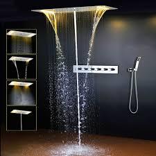 Onlt Duschsystem4 Funktion Dusche Mit Konstanter Temperatur380x700 Mmspa Spray Regen 304 Edelstahl Intelligente Digitale Touch