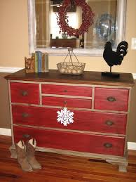 image of red painting furniture with chalk paint