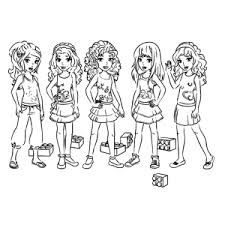 Lego Friends Coloring Pages For Girls Lego Friends 3 Images