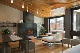 highlight lighting. Designs Ideas:Classic Living Room With Modern Sectional Sofa And Fireplace Under Monorail Track Highlight Lighting