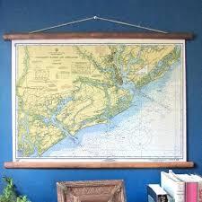 Charleston Nautical Chart Vintage Nautical Chart Reproduction 1968 Charleston Sc