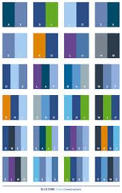 Blue tone color combinations