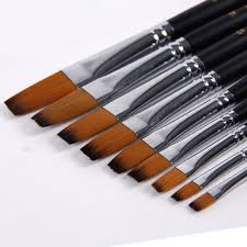 9 pcs artist brush for watercolor acrylic oil art face painting