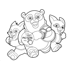Agent Oso In Treining Coloring Pages