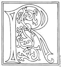 Illuminated Letters Coloring Pages Also Illuminated Letters Coloring