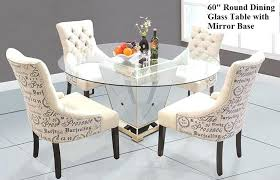 60 round glass table top modern round mirrored dining table inches tempered glass table top 60