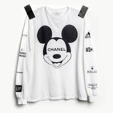 chanel shirt. mickey mouse × chanel ad shirt, relax (rolex), roach (coach) shirt s