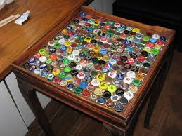 bottle cap side table process pics abound home sweet home bottle cap furniture