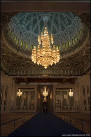 swarovski crystal chandelier in sultan qaboos grand mosque mu oman