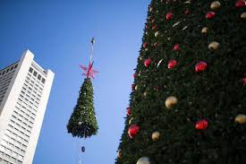 How Union Squareu0027s Huge Christmas Tree Is Unwrapped Rustproofed Christmas Tree In San Francisco
