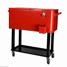 80 quart beer cart outdoor stainless steel rolling cooler