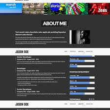 Free Web Resume Templates 100 Html100 Resume Templates Free Samples Examples Format 77