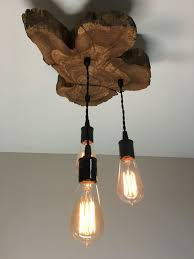 modern rustic lighting. Modern Live Edge Olive Wood Light Fixture With 3 Lights Rustic Pertaining To Fixtures Inspirations 16 Lighting