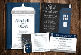 Create Your Invitation Doctor Who Tardis Wedding Invitation Set Personalized Printable