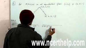 find the equation of the set of points which are equidistant from the points
