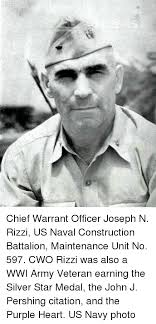 Cwo Navy Chief Warrant Officer Joseph N Rizzi Us Naval Construction Battalion