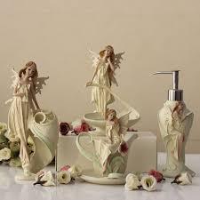 Decorative Bathroom Accessories Sets Creative European Style Angel Bathroom Accessories Set 100Pcs Bath 75