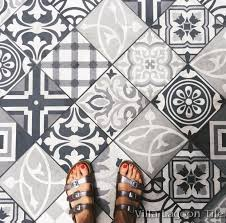 for larger image patchwork evening cement tile