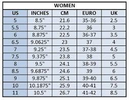 Us Women S Shoe Size Chart Inches Sizing Chart Anna Xi