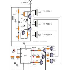 home intercome system circuit diagram image