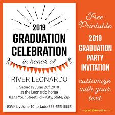 2019 4 6 graduation party invitation templates