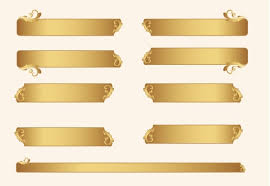 Gold ornament frames with floral vector free download