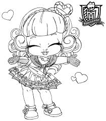 Small Picture Coloring Pages for Girls Monster High Bestofcoloringcom