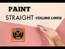 how to paint a straight ceiling line