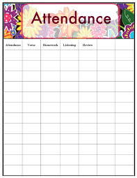Free Printable Attendance Chart Printable Attendance Chart Complete Guide Example 11