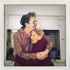 gary oldman and his 99 year s old mother after telling her that he