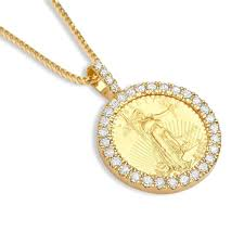 Eagle Necklace Bezel 1oz For Gold Pendant me Co If Coin Breakpoint - Diamond