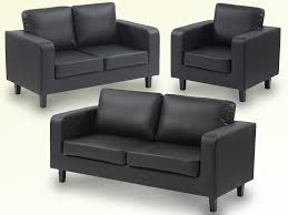 great value leather box sofa set 3 2 1 only for 275 black