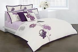 customized walls gorgeously purple bedroom purple flower comforter