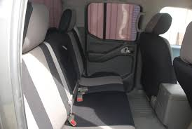 2007 nissan frontier rear black and silver neoprene seat covers our full custom neoprene seat covers also include genuine neoprene material backing