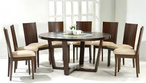 gorgeous round wooden dining table and chairs stylish