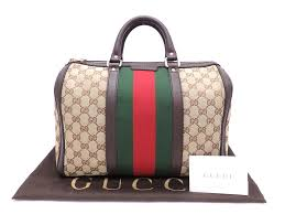 gucci bags vintage. gucci bag gg canvas medium vintage web 247205 brown x red green gold bags