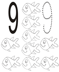 Small Picture Number 9 coloring page