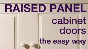 Cabinet Door how to build a raised panel cabinet door photos : How to make raised panel cabinet doors in MDF - YouTube