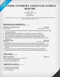 Post Associate Attorney Resume