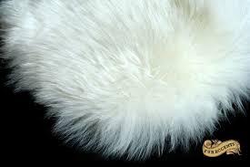 thick white mountain sheepskin faux fur area rug