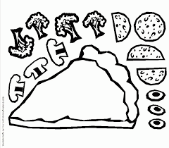 Small Picture Pizza Coloring Pages Kids Coloring