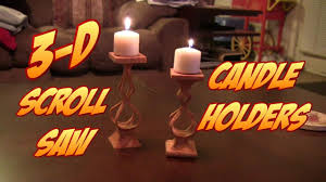 Free Scroll Saw Patterns For Beginners Amazing Make These COOL 48D Scroll Saw Candle Holders FREE PATTERN LINK