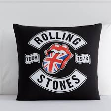 rolling stones bravado band art pillow cover