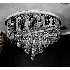 china artistic luxury led chrome iron pvc crystal ceiling lamp decorative