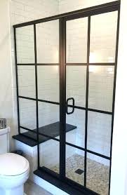 glass shower frame matte hinges charming sliding semi sweep black handle door bathrooms cool australia