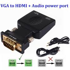 2021 VGA Male To HDMI Female Converter Adapter Lead With Audio Output Cable  Micro Power Port 1080P Signal For HDTV PC Laptop From Liuzedonguuuu,  $206.15