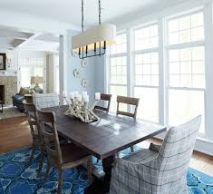 Splashy Trestle Dining Table In Dining Room Beach Style With
