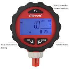 Elitech Pg 30pro Red Refrigeration Hvac Digital Pressure Gauge For 87 Refrigerants With Backlight 0 800 Psi 1 8 Npt