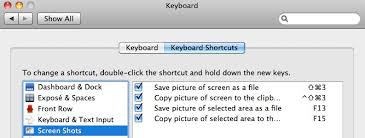 Screen Capture Mac Digbys Help Mac Osx Change The Keyboard Shortcuts For